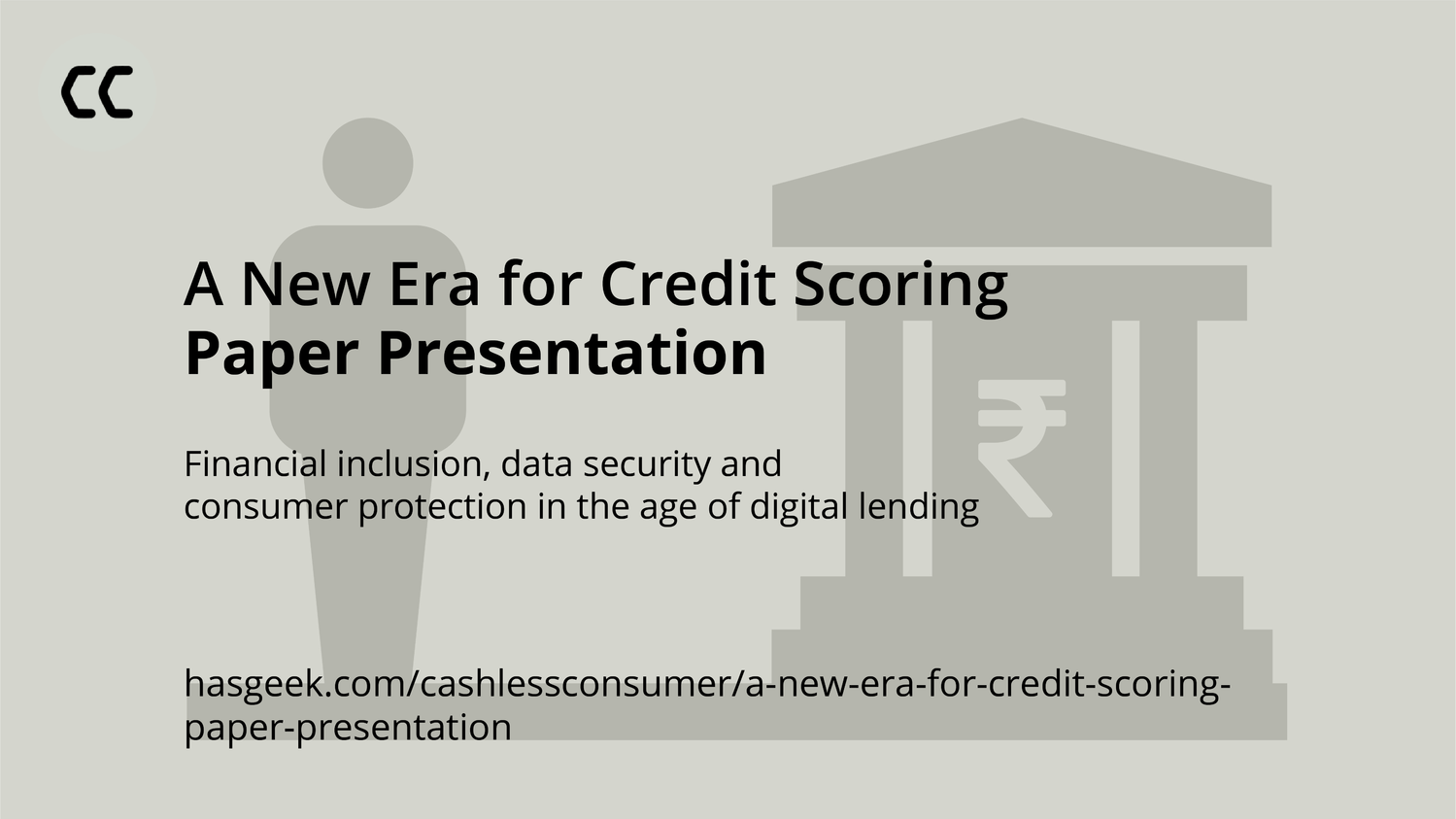 A New Era for Credit Scoring - Paper Presentation