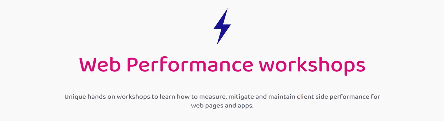 Web Performance Workshops