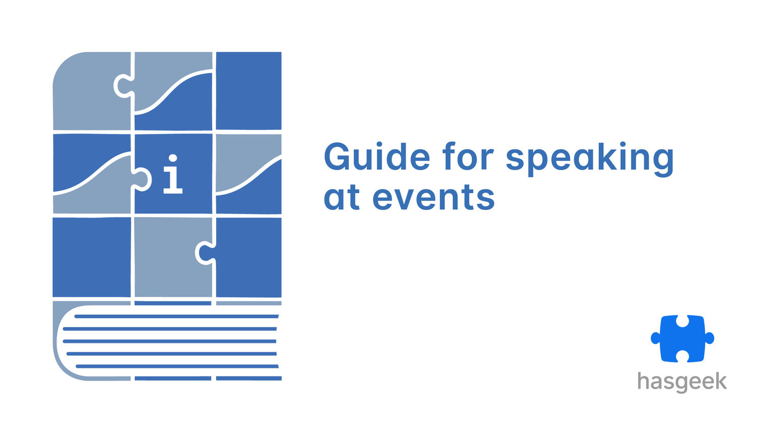 A guide to prepare for speaking at events