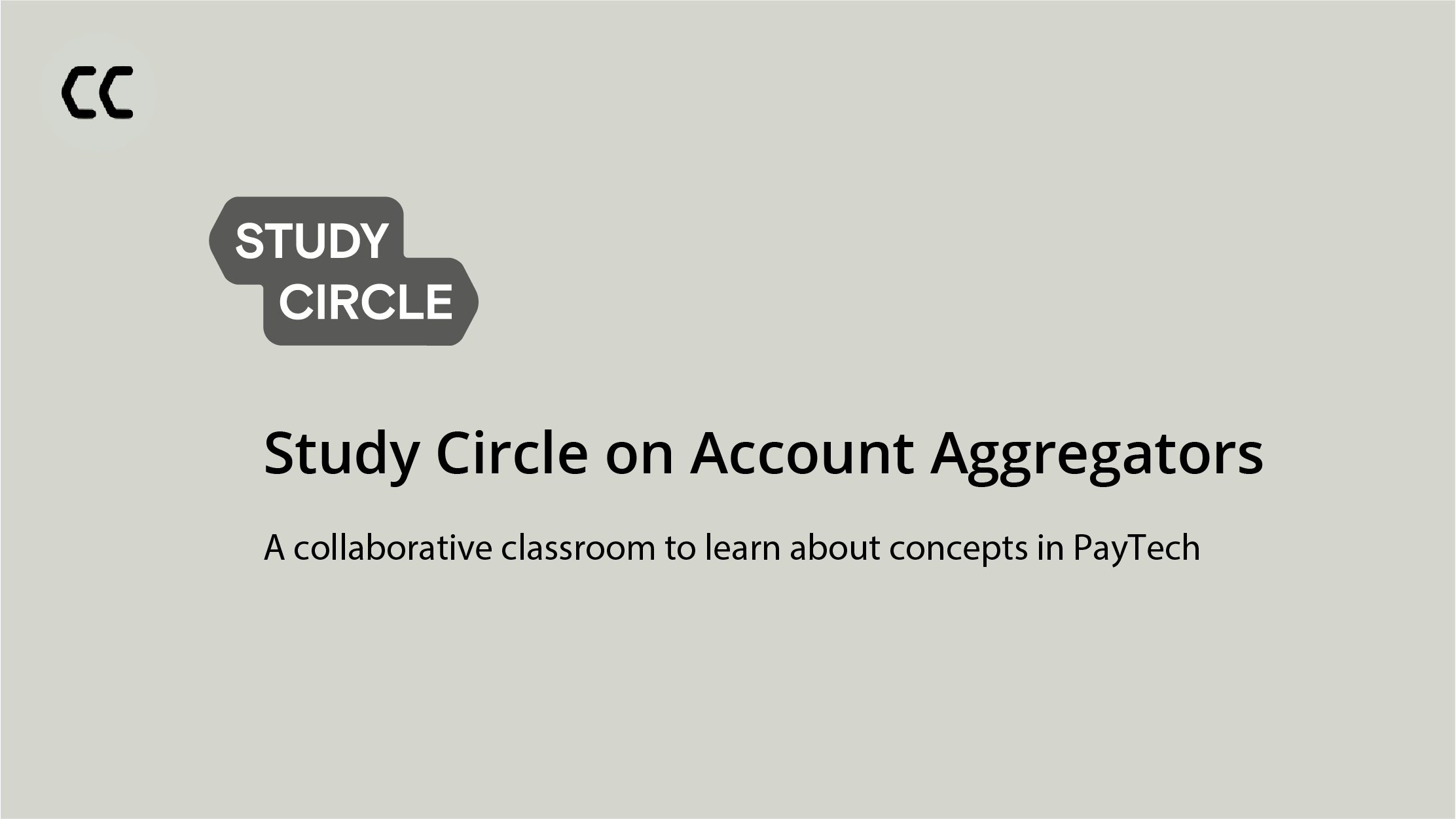 Study Circle on Account Aggregators