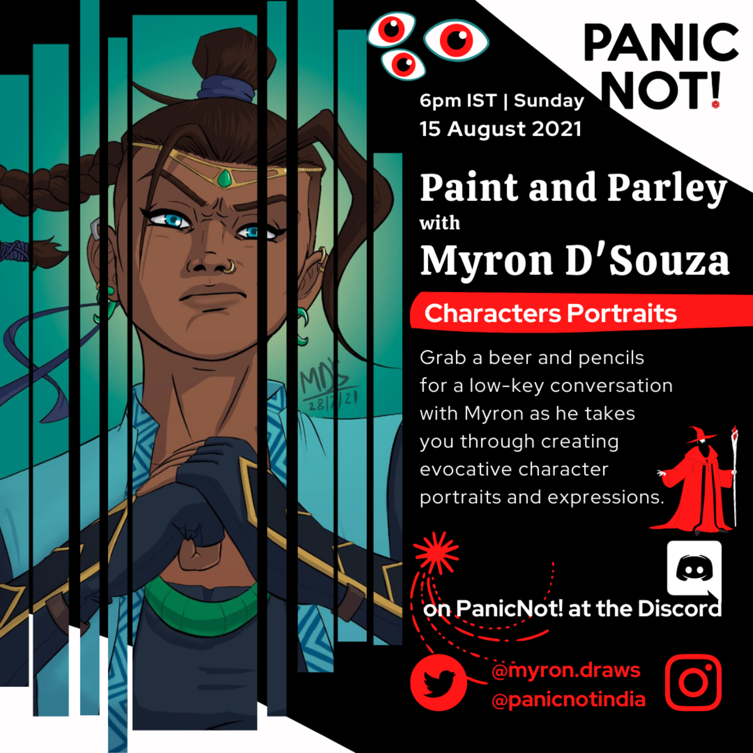 Paint and Parley: Interview and art session with Myron D'Souza