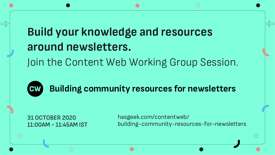 Building community resources for newsletters