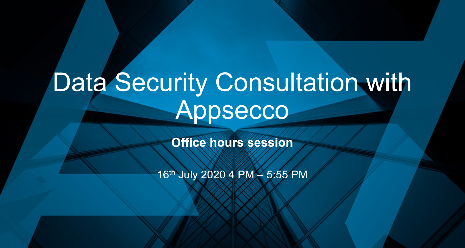 Data security consultation with Appsecco - Office hours session