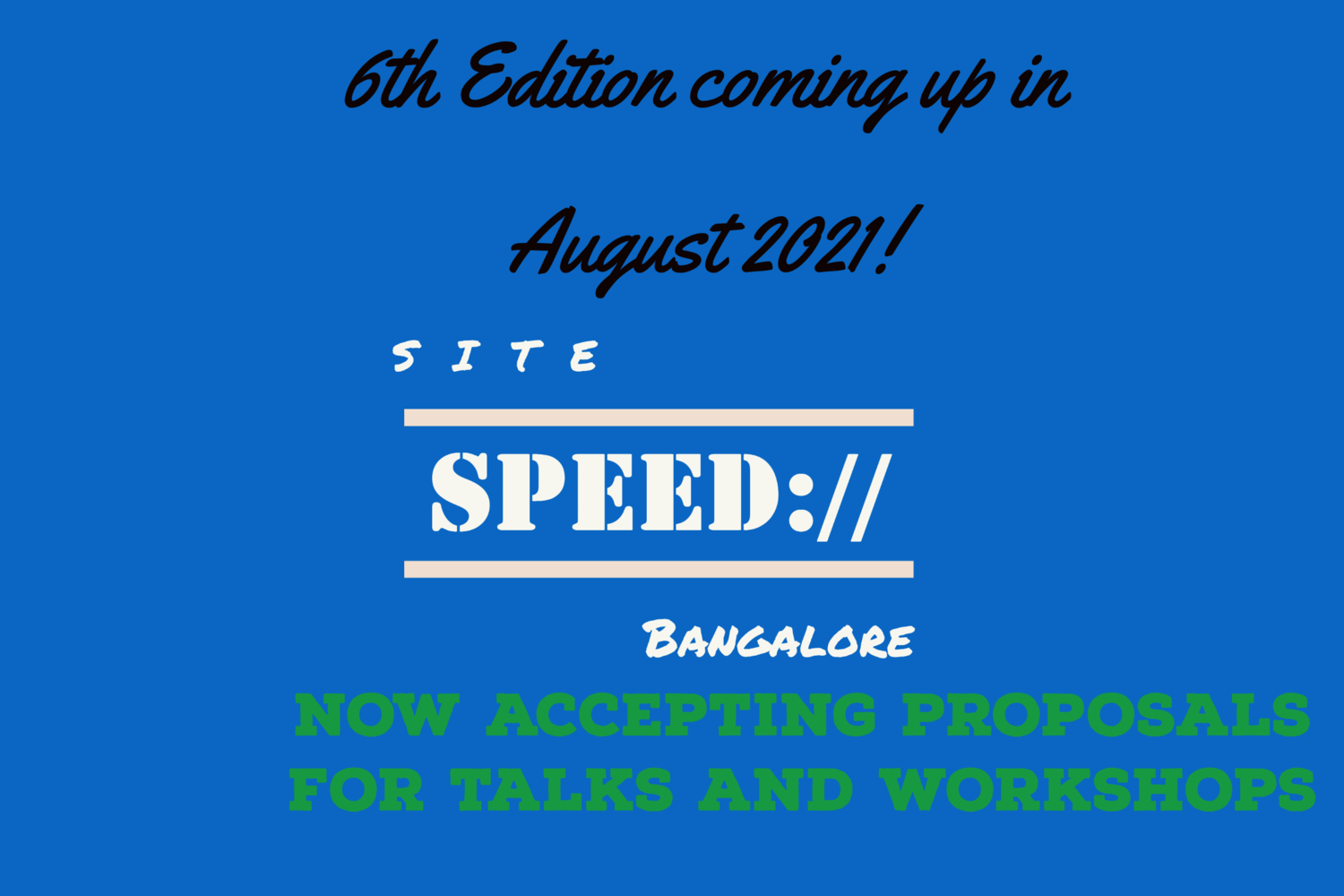 Bangalore Site Speed 6th Edition