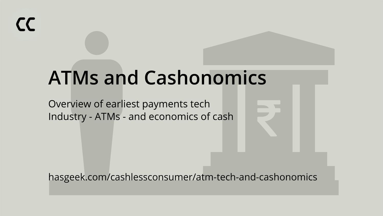ATMs and Cashonomics