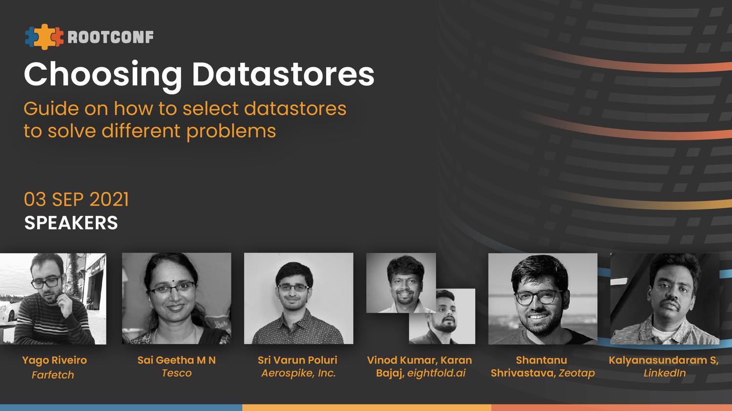 Choosing datastores