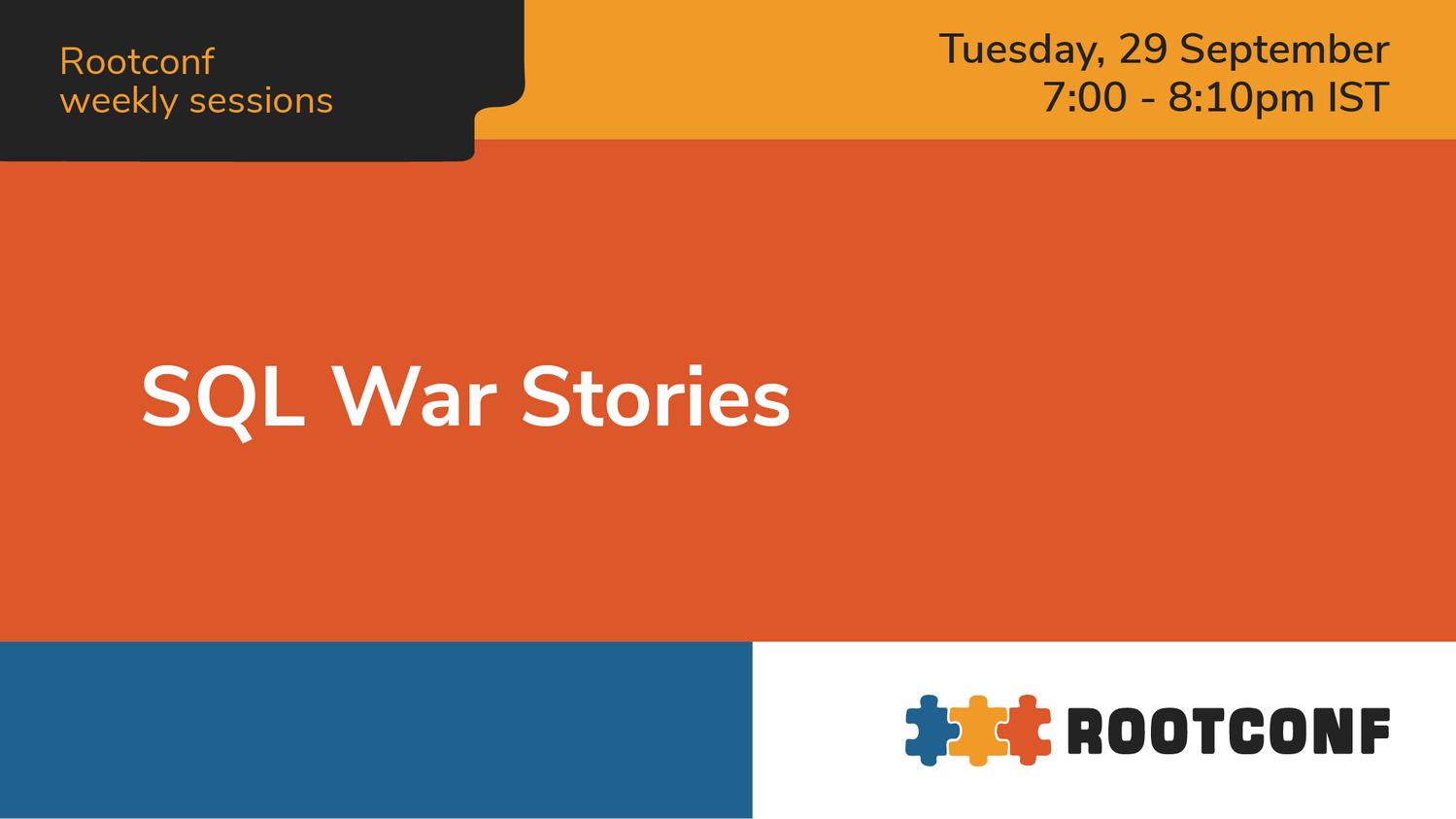SQL War Stories