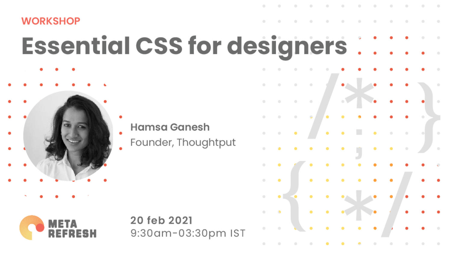 Workshop: Essential CSS for designers