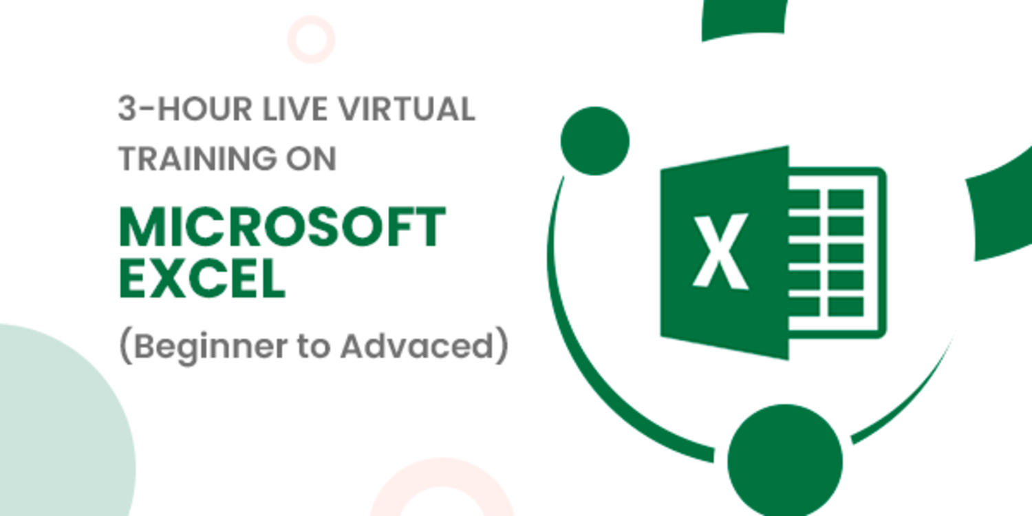 3-hour Live Virtual Training on Microsoft Excel from Beginner to Advanced
