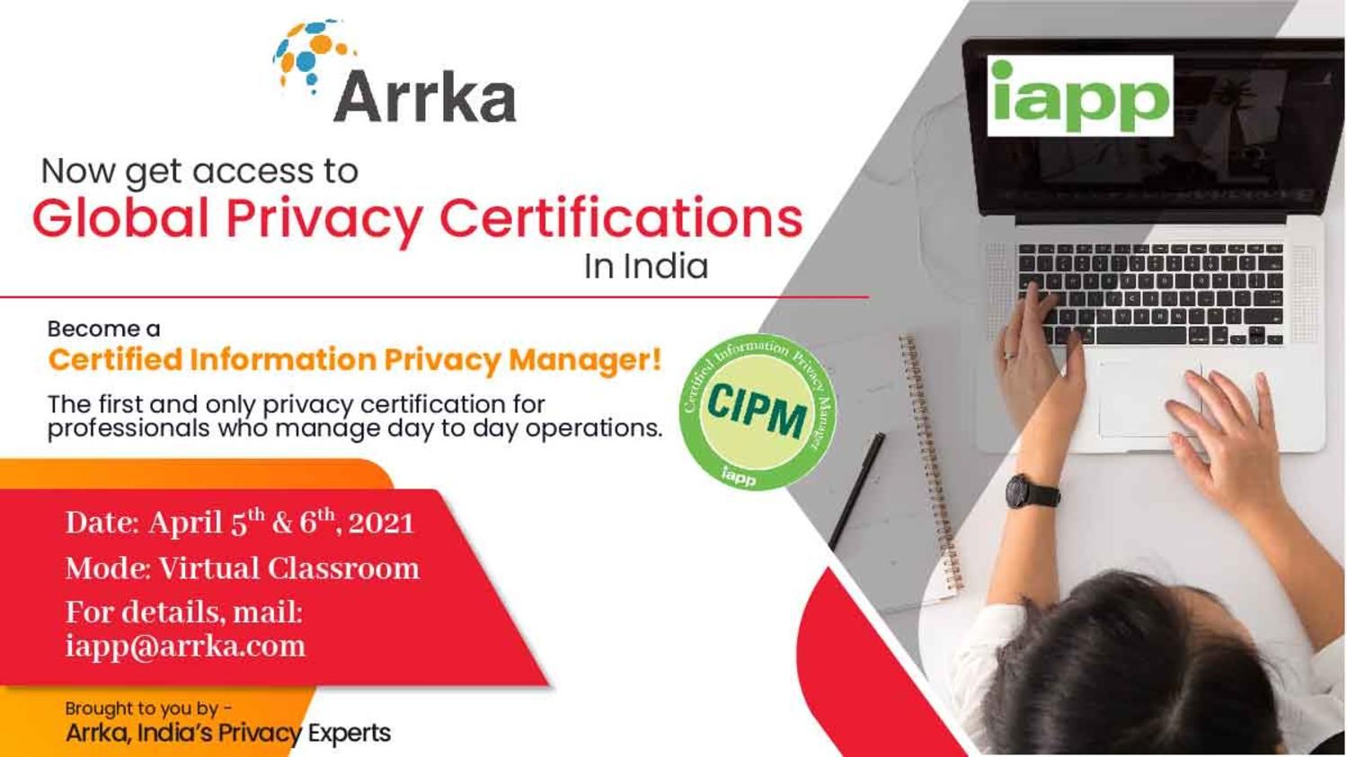Certified Information Privacy Manager (CIPM) Training