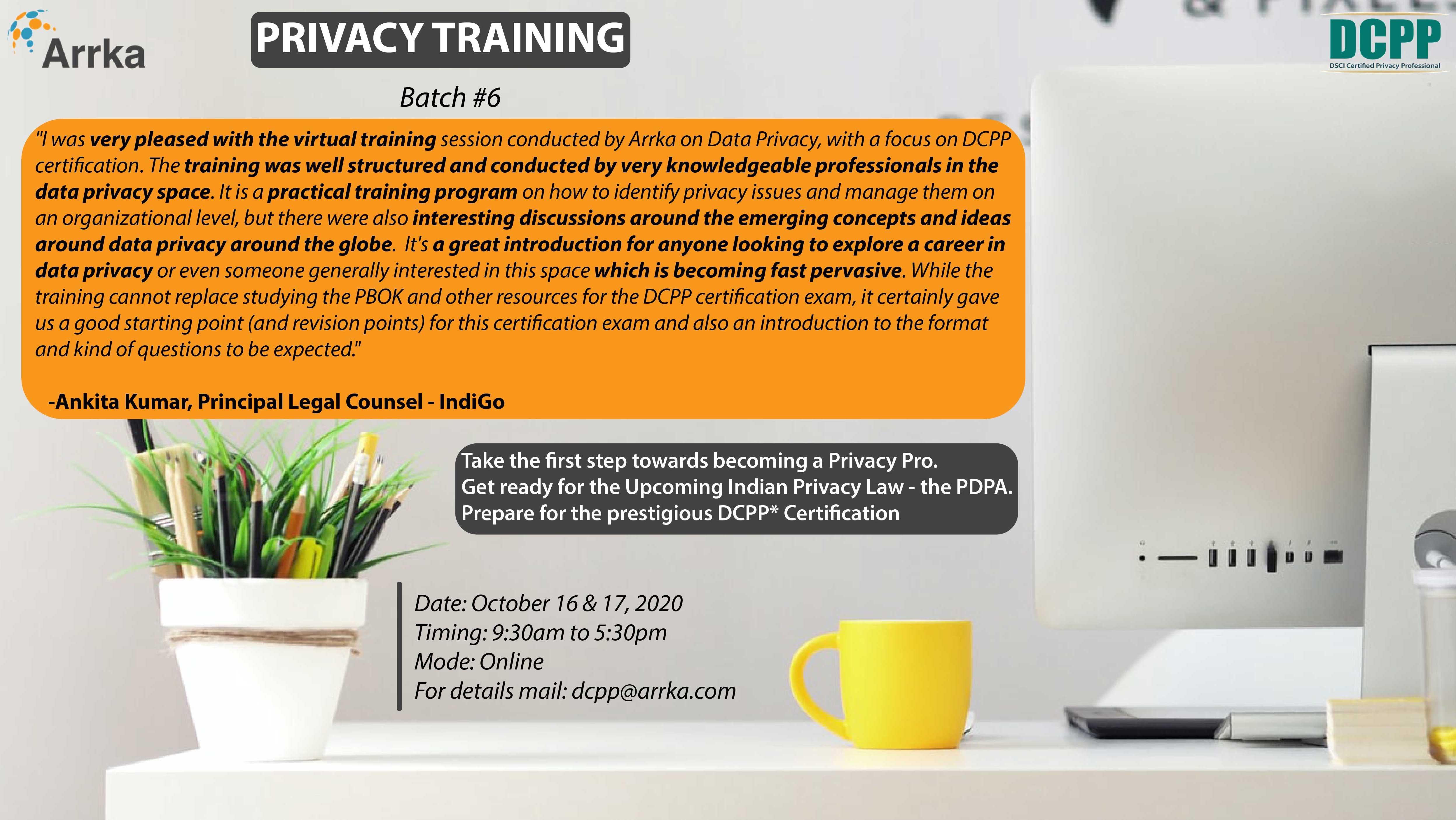 Data Privacy Training Program