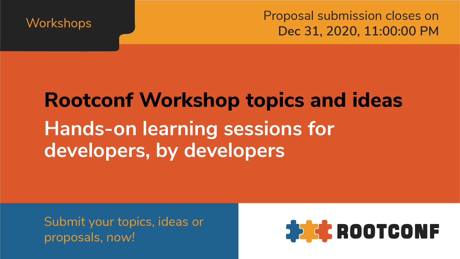 Call for Proposals for Workshops