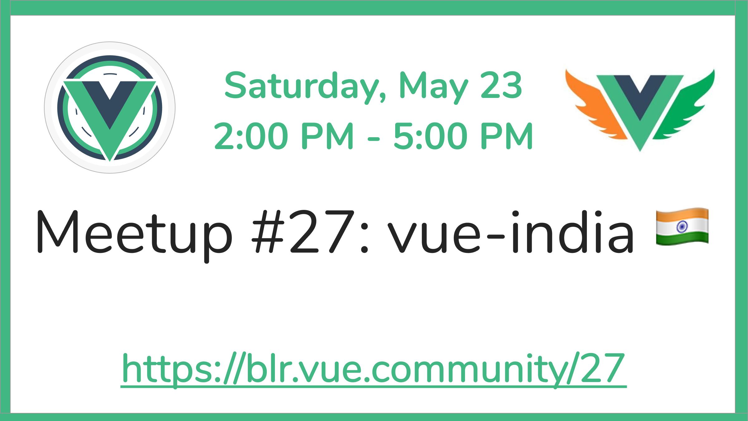 VueBLR #27 Meetup