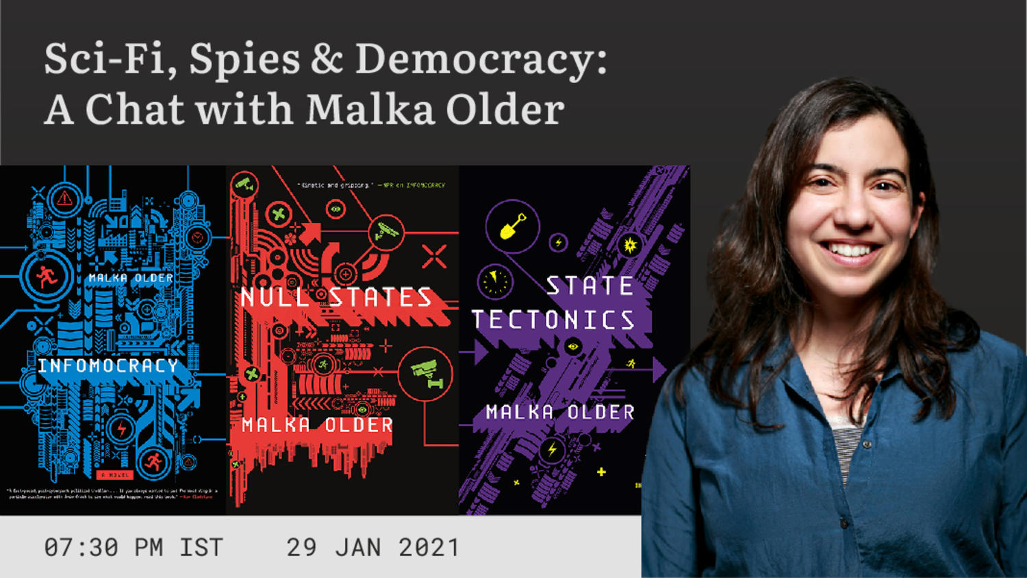 Sci-Fi, Spies & Democracy: A Chat with Malka Older