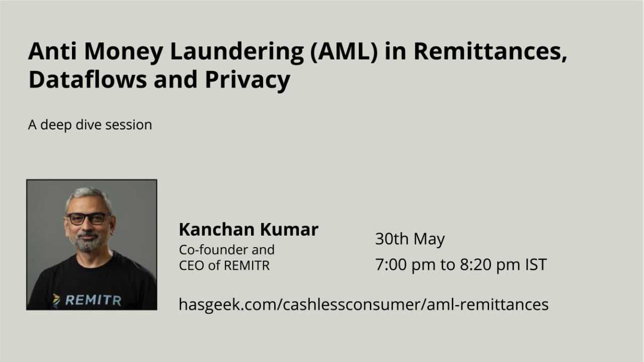 Anti Money Laundering (AML) in Remittances, Dataflows and Privacy