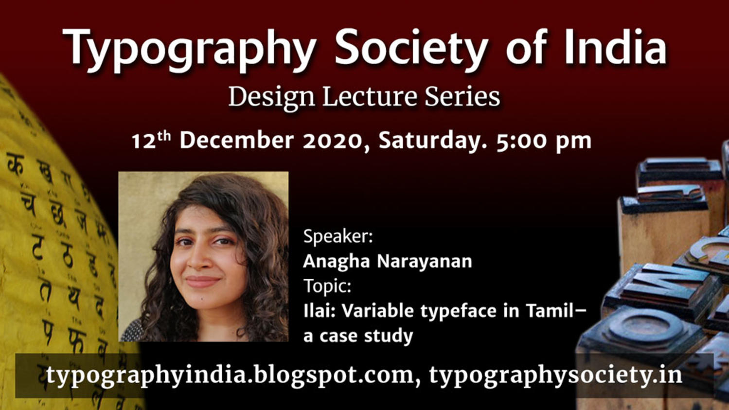 Design Lecture Series: Ilai: Variable typeface in Tamil — a case study