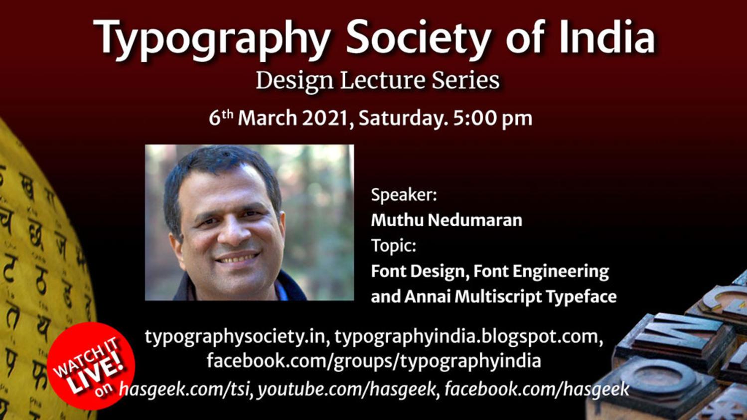 Font Design, Font engineering and Annai-Multiscript Typeface