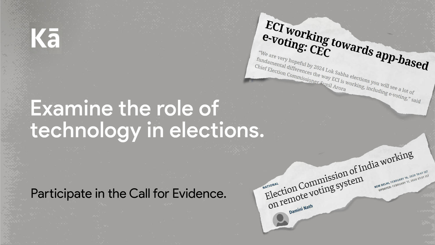Examine the role of technology in elections