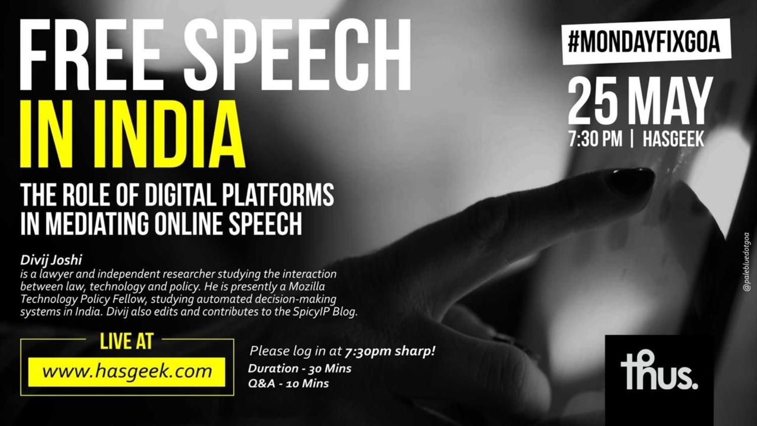 Platforms, privatized censorship and free speech in India