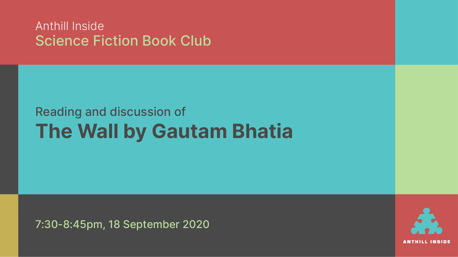 Reading and discussion of The Wall by Gautam Bhatia