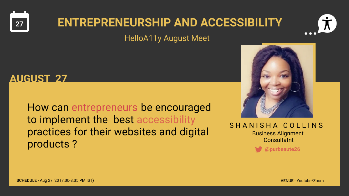 Entrepreneurship and Accessibility by Shanisha Collins